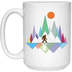Sasquach Mountain 15 oz. White Mug - Spgetti