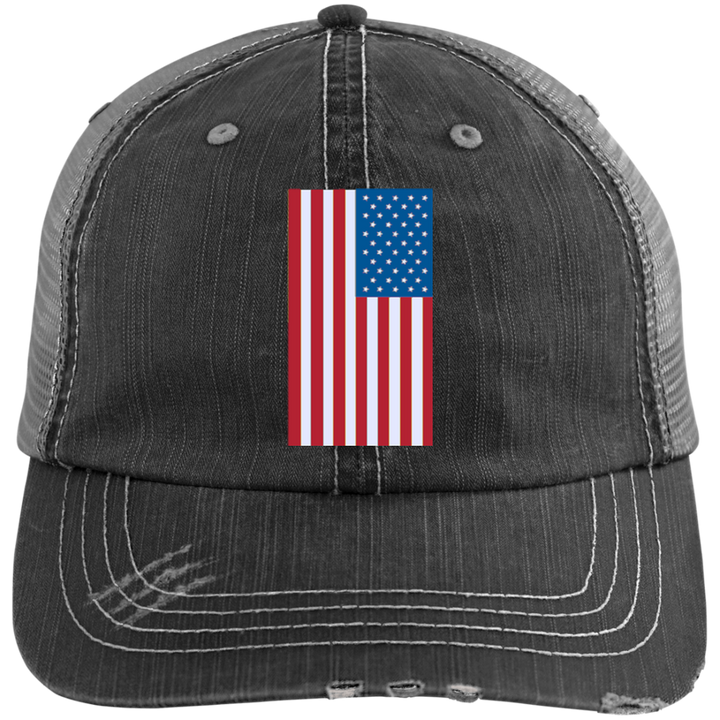 American Flag Distressed Cap - Spgetti