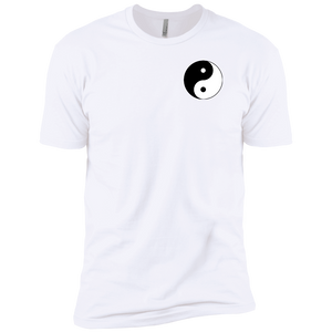 White Yin Yang Men's Premium Short Sleeve T-Shirt