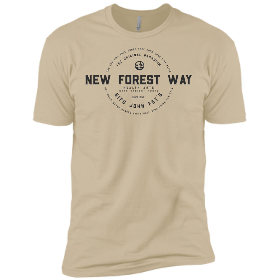 Sand Vintage New Forest Way Premium Short Sleeve T-Shirt
