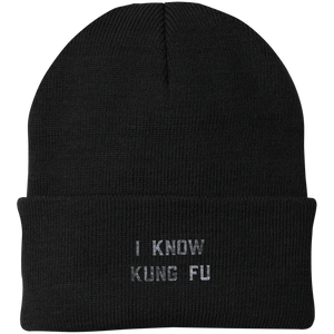 I Know Kung Fu  Knit Cap - Spgetti