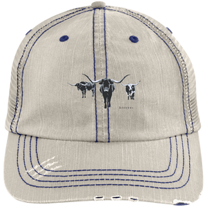 Longhorn low type Distressed  Cap - Spgetti
