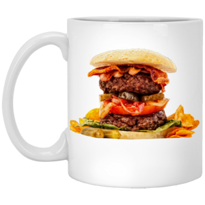 Burger 11 oz. White Mug - Spgetti