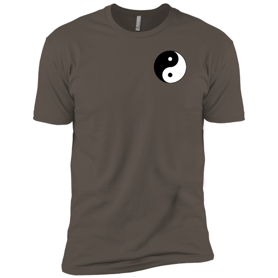 Warm Grey Yin Yang Men's Premium Short Sleeve T-Shirt
