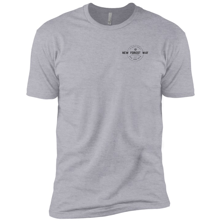 Heather Grey Vintage New Forest Way Premium Short Sleeve T-Shirt
