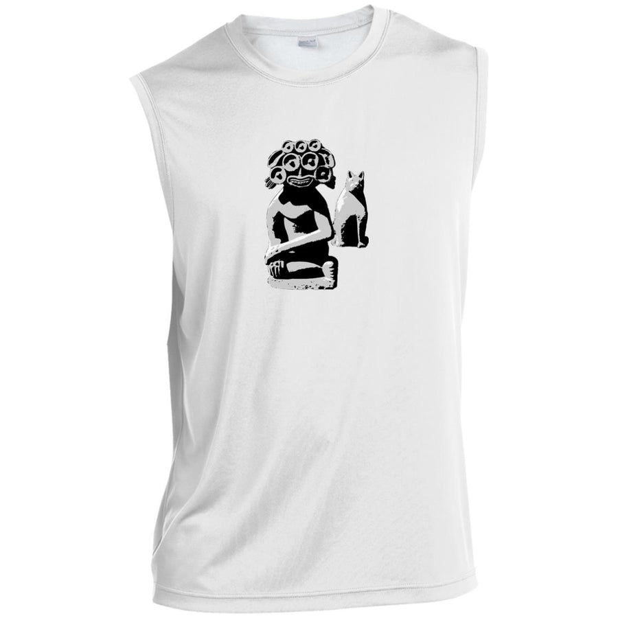 Water Goddess and Cat Sport-Tek Sleeveless Performance T-Shirt