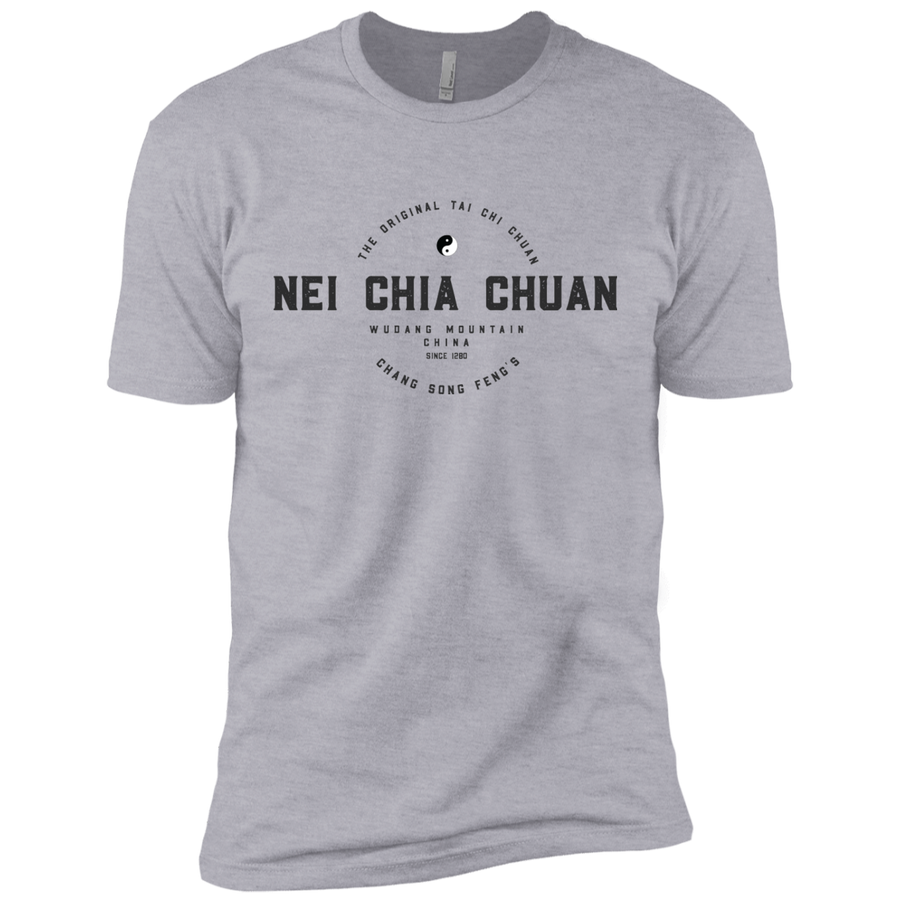 Heather Grey Vintage Tai Chi Premium Short Sleeve T-Shirt