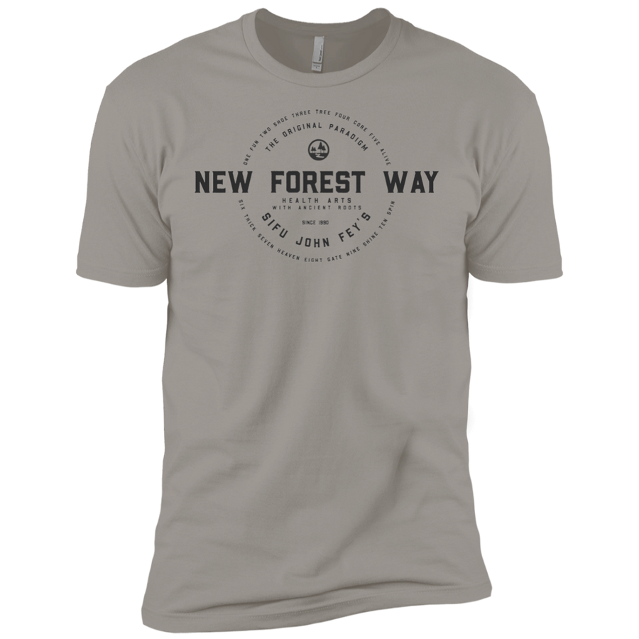 Light Grey Vintage New Forest Way Premium Short Sleeve T-Shirt