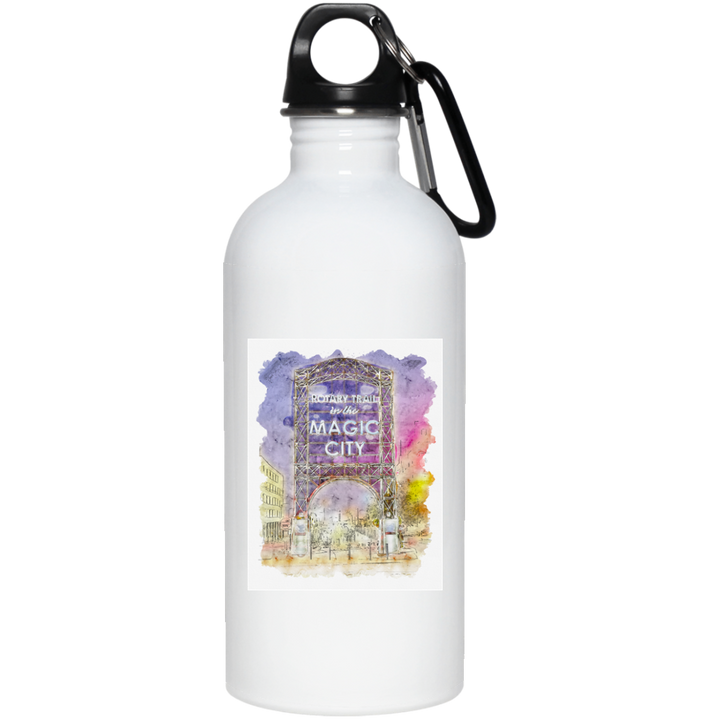 Magic City Watercolor 20 oz. Stainless Steel Water Bottle