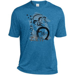 Blue Wake Heather Ta Mo's (Bodhidarma)18 Zen t-shirt
