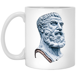 Vulcan Head2 11 oz. White Mug - Spgetti