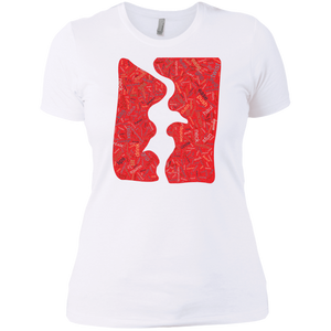 Kiss Ladies' Boyfriend T-Shirt - Spgetti