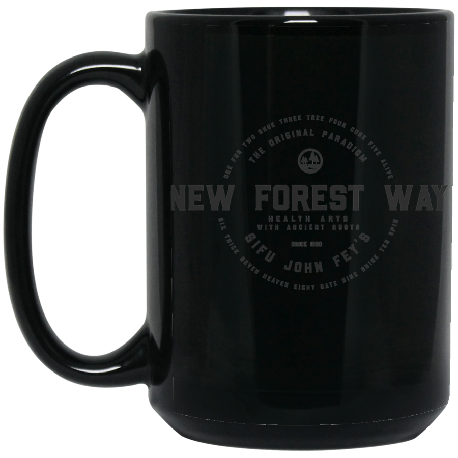 Vintage New Forest Way 5 oz. Black Mug - Spgetti