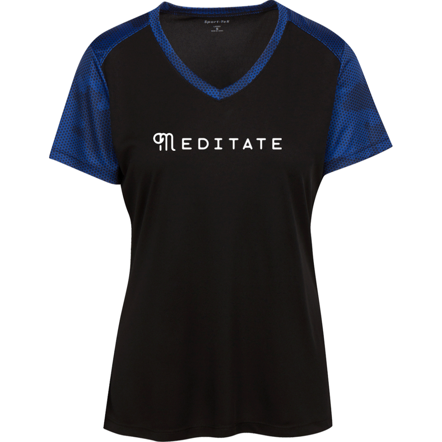 Meditate Ladies' CamoHex Colorblock T-Shirt - Spgetti