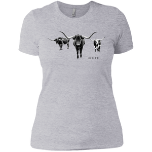 Longhorns Ladies' Boyfriend T-Shirt - Spgetti