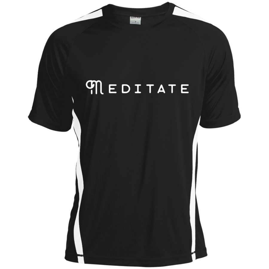 Meditate Colorblock Dry Zone Crew - Spgetti