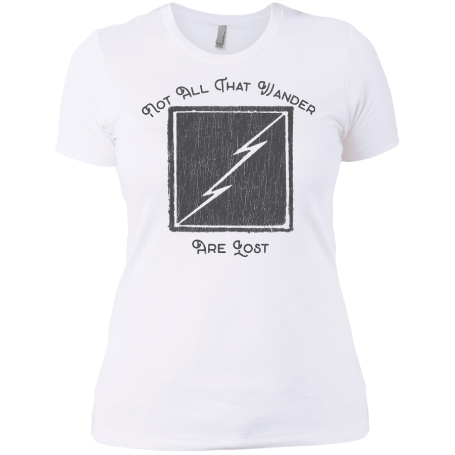 Not All Who Wander Are Lost Ladies' Boyfriend T-Shirt - Spgetti