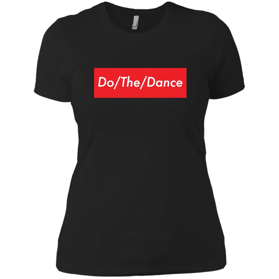 Do/The/Dance Ladies' Boyfriend T-Shirt - Spgetti