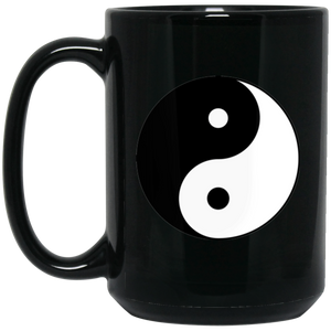 Yin Yang Single 15 oz. Black Mug