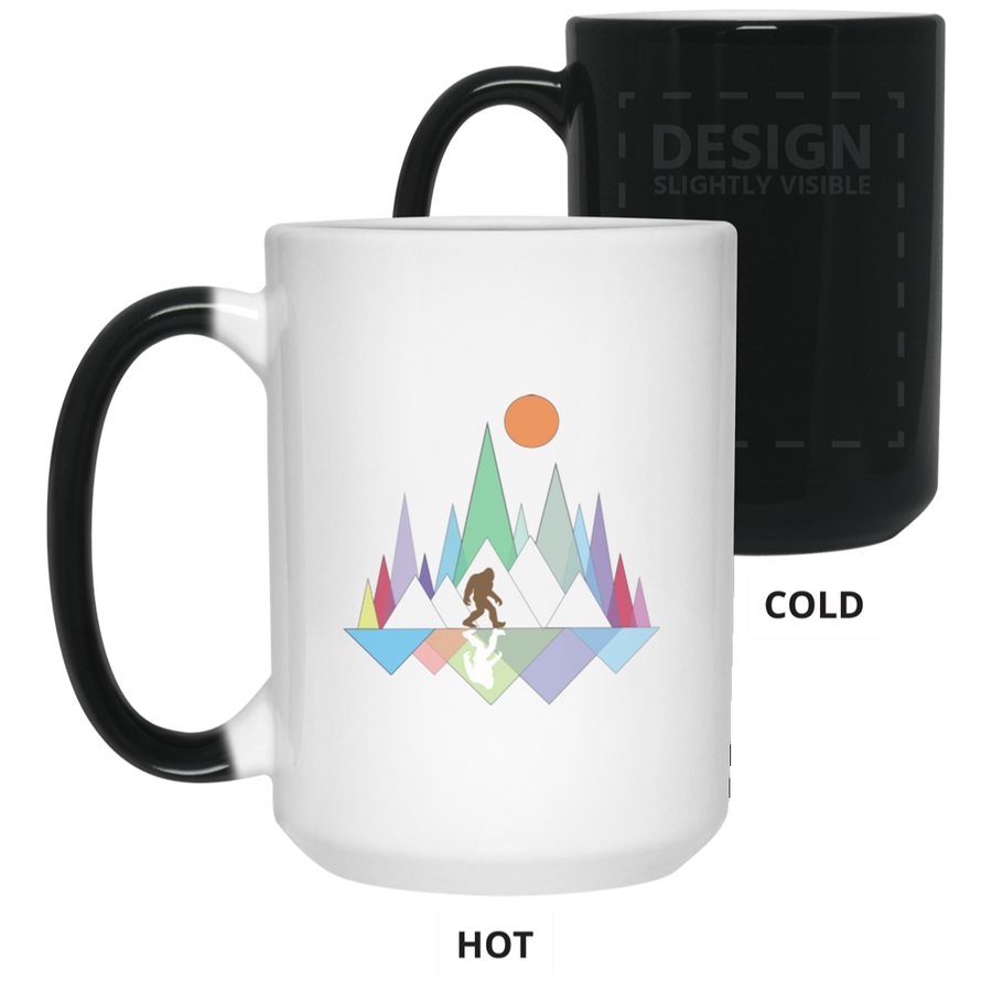 Sasquatch Mountain 15 oz. Color Changing Mug