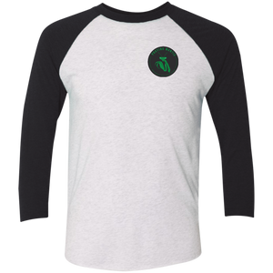 Praying Mantis Tri-Blend 3/4 Sleeve Baseball Raglan T-Shirt - Spgetti