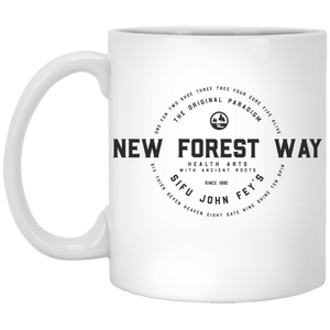 Vintage New Forest Way 11 oz. White Mug - Spgetti
