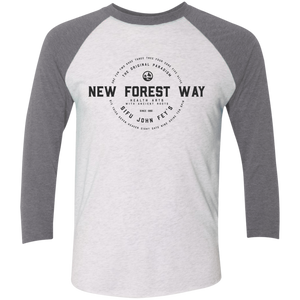 Heather White/Premium Heather Vintage New Forest Way Tri-Blend 3/4 Sleeve Baseball Raglan T-Shirt