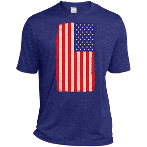 American Flag Vintage Dri-Fit Moisture-Wicking T-Shirt - Spgetti