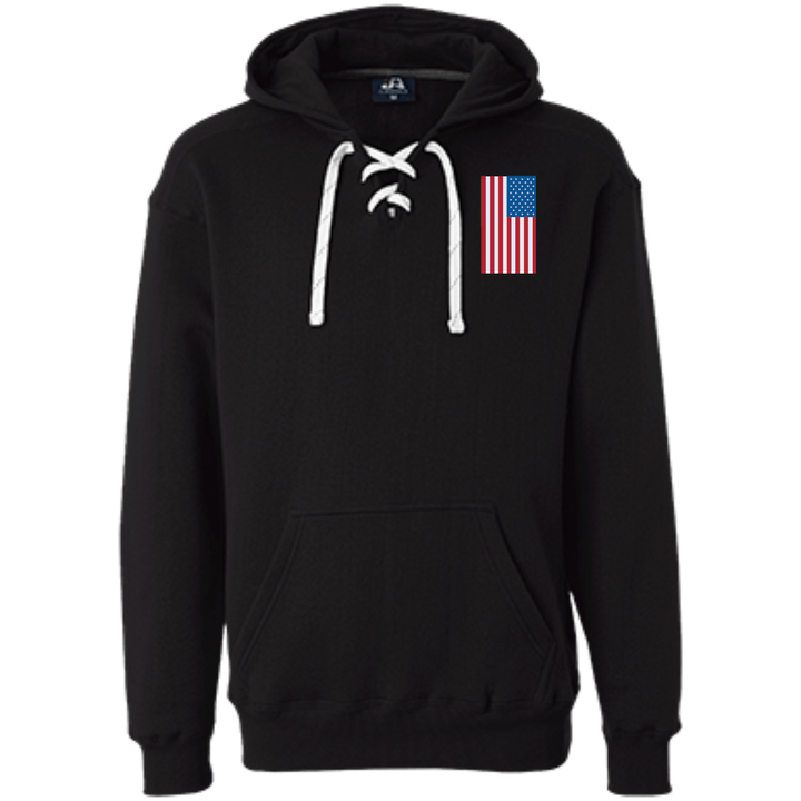 American Flag Heavyweight Sport Lace Hoodie - Spgetti