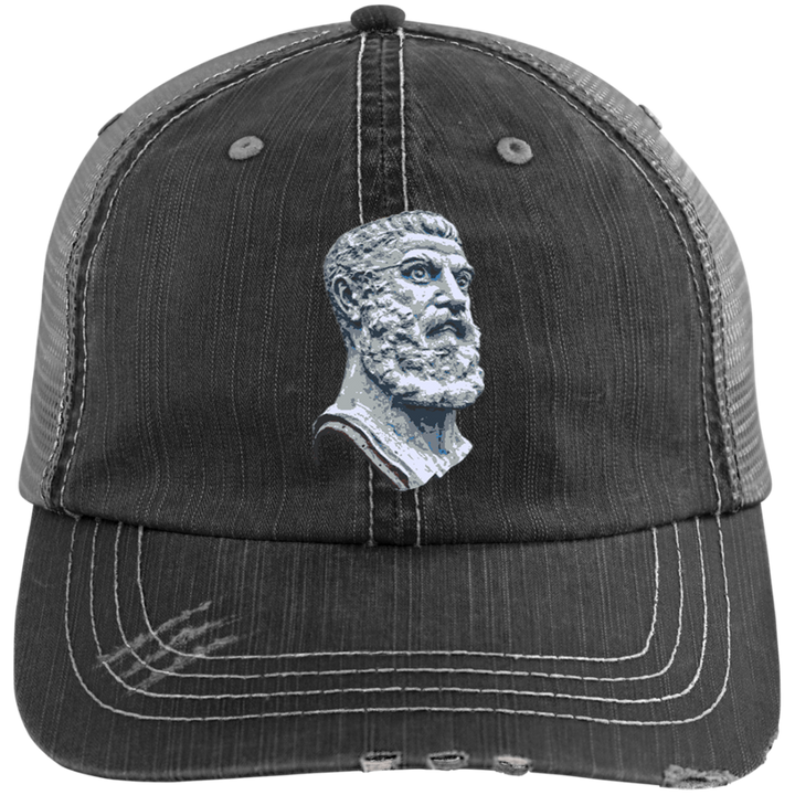 Vulcan Head Distressed Cap - Spgetti