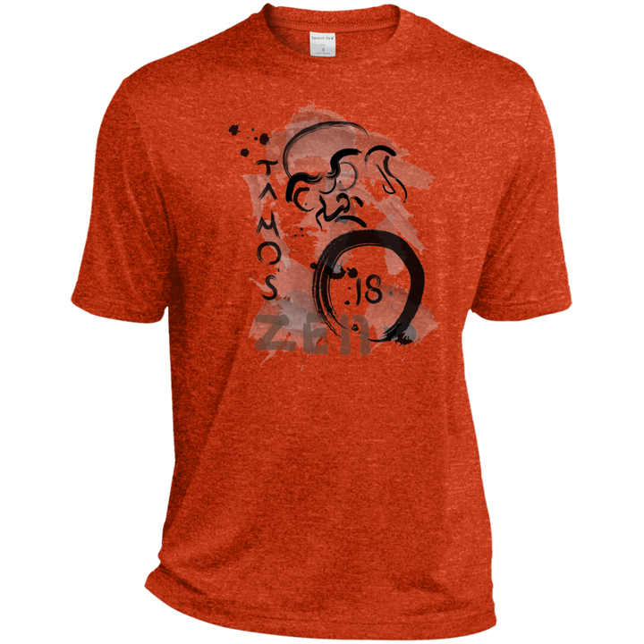 Deep Orange Ta Mo's (Bodhidarma)18 Zen t-shirt
