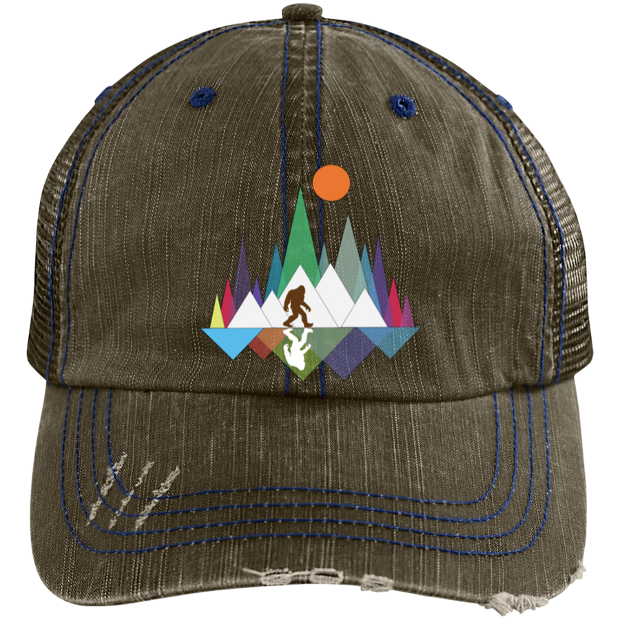 Sasquatch Mountain Distressed Cap - Spgetti