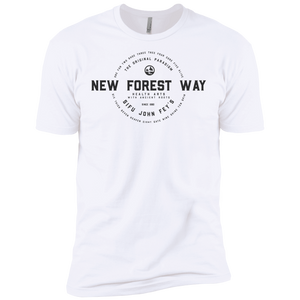 White Vintage New Forest Way Premium Short Sleeve T-Shirt