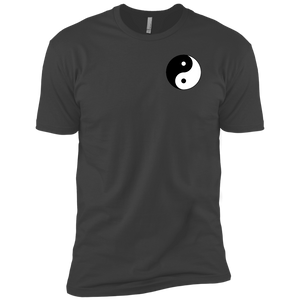 Grey Yin Yang Men's Premium Short Sleeve T-Shirt