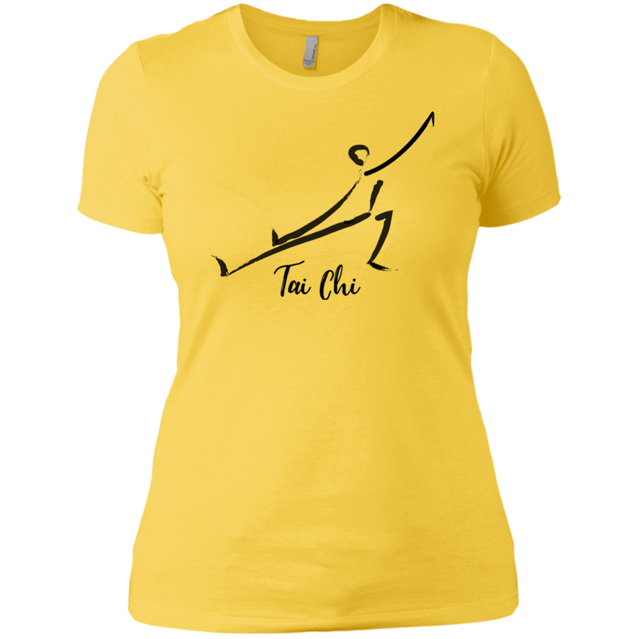 Vibrant Yellow Tai Chi Tai Chi Ladies' Boyfriend T-Shirt