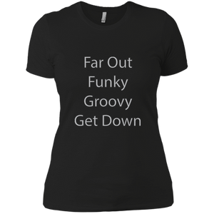 Far Out Funky Ladies' Boyfriend T-Shirt - Spgetti