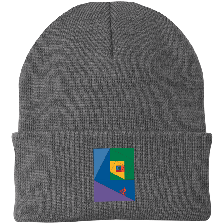 Fibonacci Mountain Bike-01 Knit Cap - Spgetti