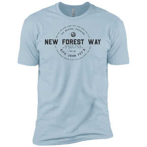 Light Blue Vintage New Forest Way Premium Short Sleeve T-Shirt