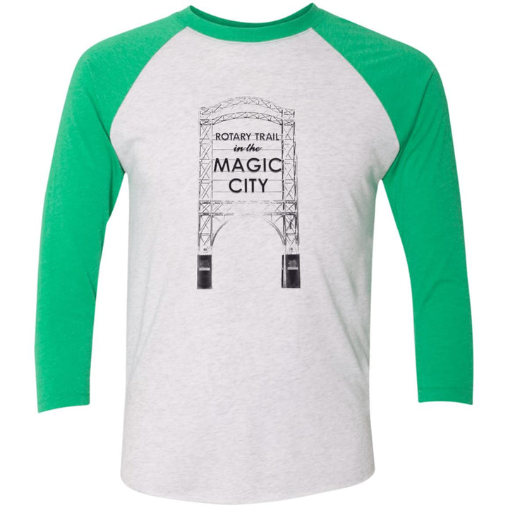 Magic City Tri-Blend 3/4 Sleeve Baseball Raglan T-Shirt