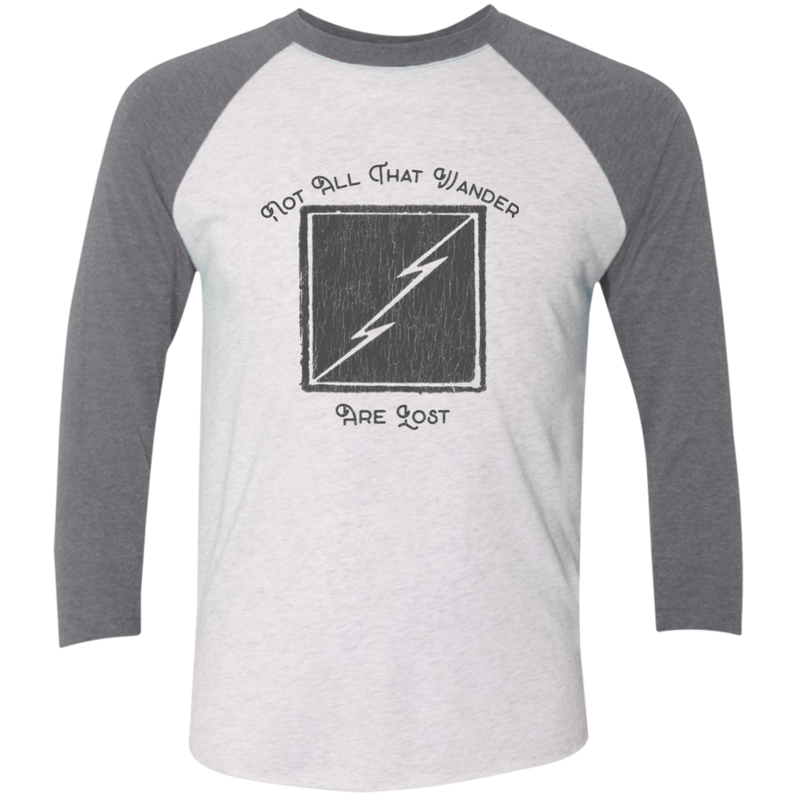 Not All Who Wander Are Lost Tri-Blend 3/4 Sleeve Baseball Raglan T-Shirt - Spgetti