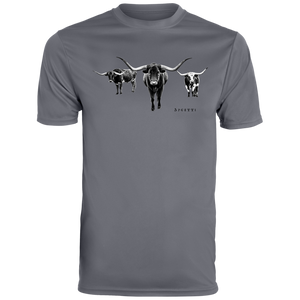 Longhorns Men's Wicking T-Shirt - Spgetti