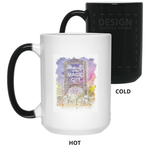 Magic City Watercolor 15 oz. Color Changing Mug - Spgetti