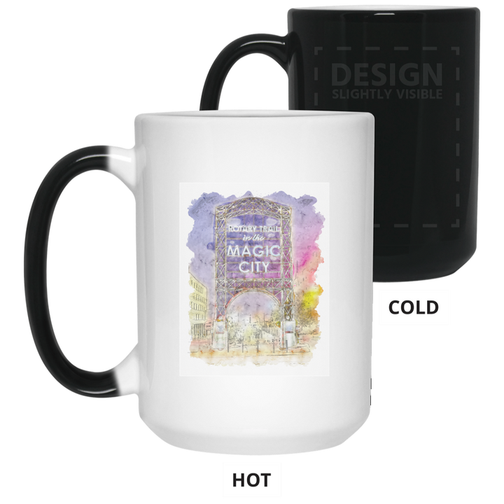 Magic City Watercolor 15 oz. Color Changing Mug