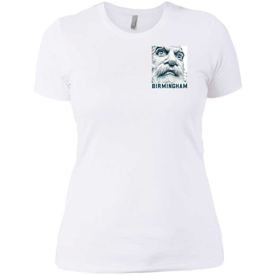 Big Vulcan with Birmingham Ladies' Boyfriend T-Shirt - Spgetti