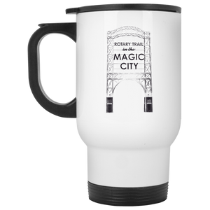 Magic City White Travel Mug