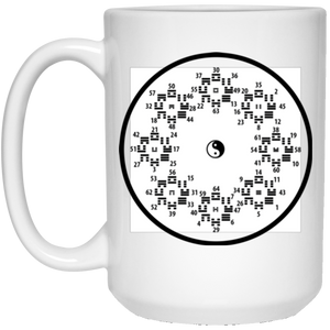 I ching 15 oz. White Mug - Spgetti