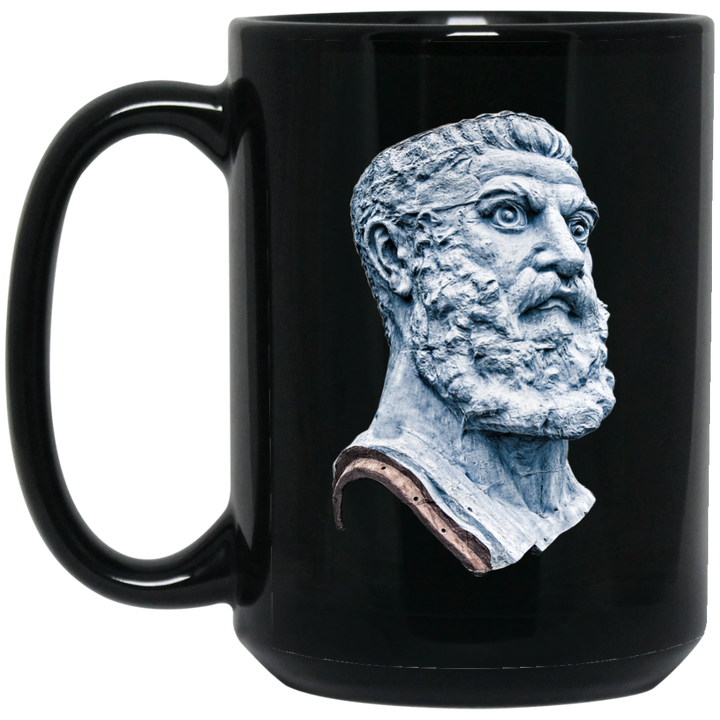 Vulcan Head2 15 oz. Black Mug - Spgetti