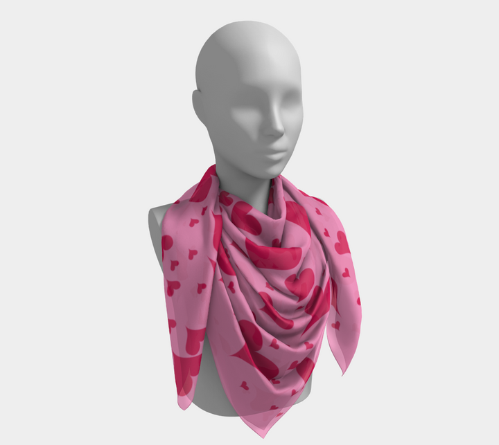 Pink Hearts Scarf