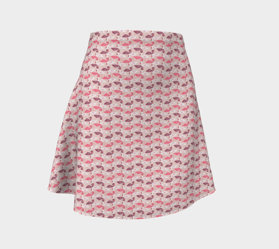 Flamingo Flare Skirt - Spgetti