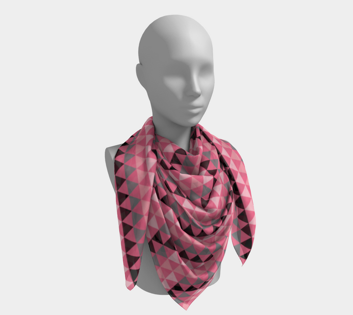 Pink Triangle Scarf
